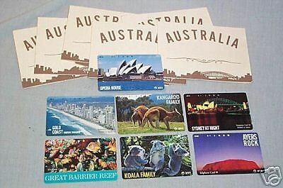Scarce Set Of Seven  Japanese Australia Related Phonecards