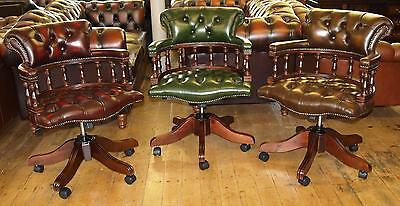Chesterfield Leather Captains Chair