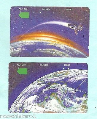 #d25. Rare Used Pair Of Christmas Island Telstra Phonecards
