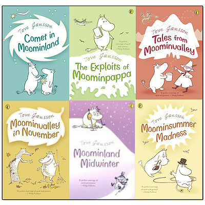 Moomins Collection 6 Books Set By Tove Jansson Children Gift Pack, Comet In Moo