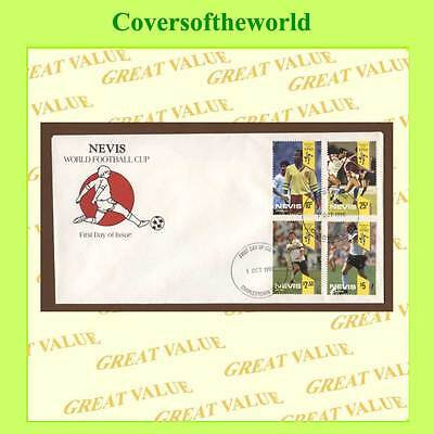 Nevis 1990 Football set First Day Cover