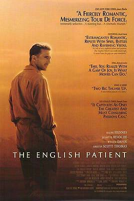"THE ENGLISH PATIENT 1996 OSCAR BEST PICTURE Original 27X40"" Movie Poster Fiennes"