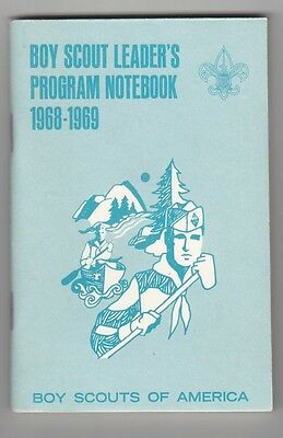 BSA Boy Scout Book: Boy Scout Leader's Program Notebook, 1968/69