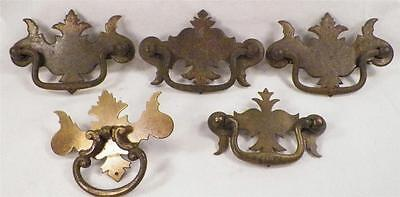 5 Chippendale Style Drawer Pulls Vintage1 Brass Bureau Wash Stand Chest