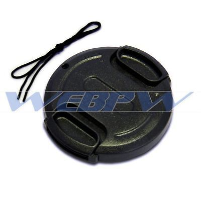 37mm Front Lens Cap Snap-on Cover for Canon Nikon Olympus Sony Camera w/ String