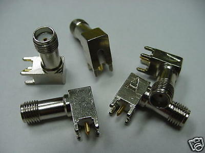 (5) 901-9917-2 Amphenol Sma Female Jack Right Angle Pc Mount Dc - 12.4Ghz 50 Ohm