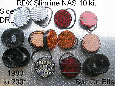 10 RDX Slimline LED NAS Lights DRL! Easyfit Plinth Relay Defender 1984 to 2002