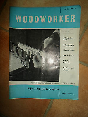 Woodworker January 1962 ~ Retro Vintage Illustrated Magazine + Advertising