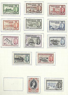 Turks&Caicos collection of 13 stamps  CANC/MLH  VF
