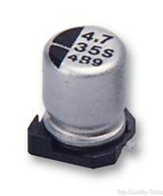 5 X SMD Aluminium Electrolytic Capacitor, Radial Can - SMD, 4.7 µF, 25 V, HA Ser