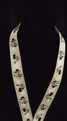 Disney Pin Lanyard Minnie Mouse With Bubbles Color Yellow 37 Inch Adult/child