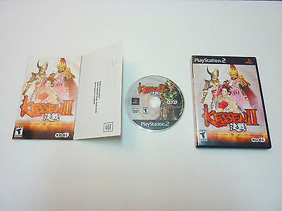 Kessen II PlayStation 2 PS2 100% COMPLETE & DISC IS MINT PS2 2 two kesen too