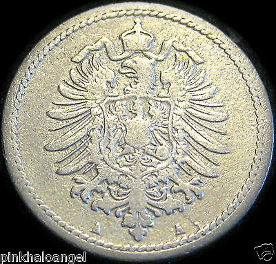 Germany - German Empire German 1875A 5 Pfennig Coin - VERY OLD COIN