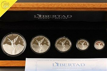 Mexico Libertad 1,9 oz Silber Set PP Proof 2013