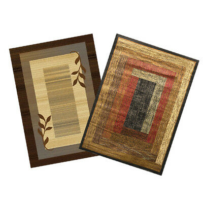"""Transitional Lodge Rustic 8x11 Contemporary Leaves Area Rug - Actual 7'8""""x10'4"""""""