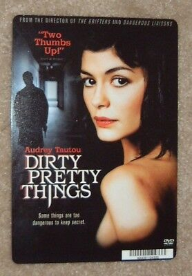 DIRTY PRETTY THINGS promo art card AUDREY TAUTOU (this is NOT a dvd)