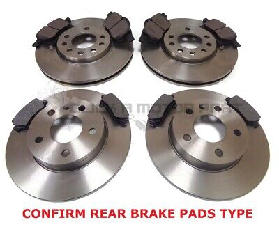 VAUXHALL ASTRA MK4 G 1.8 SXi 16V FRONT AND REAR BRAKE DISCS AND PADS SET NEW