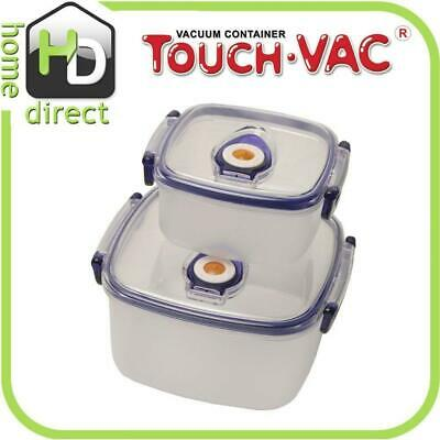 TouchVac Airtight Vacuum Sealed Kitchen Storage Microwave Food Container 1.2L