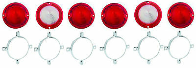 1961 Impala Tail Light Lamp Lens w/ Ornaments Trimrings set 61 Biscayne BelAir