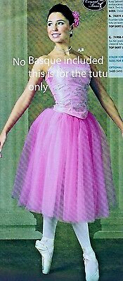 NEW Romantic Tutu 2 colrs  ch/ad sz attached trunks 4 layer tulle chiffon skirt