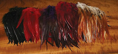 """6"""" to 7"""" STRUNG ROOSTER HACKLE  - Perfect for streamers, wooly buggers fly tying"""
