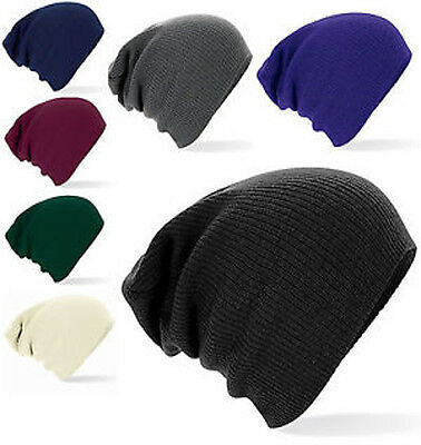 Supersoft Beechfield b461 Slouch Baggy Oversize Beanie Hat - 7 Colours - Acrylic