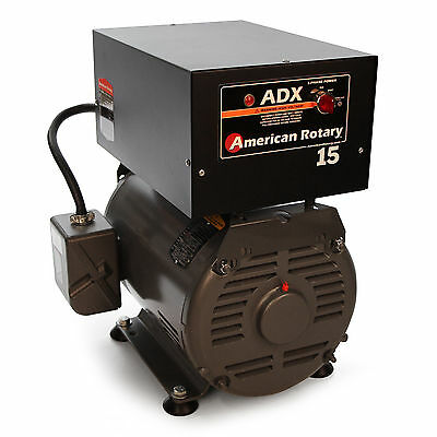 Rotary Phase Converter ADX15F 15 HP Floor 1 to 3 Phase CNC Extreme Duty USA Made