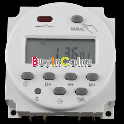 Accurate AC 220V-240V LCD Digital Programmable Timer 16A/24V DC