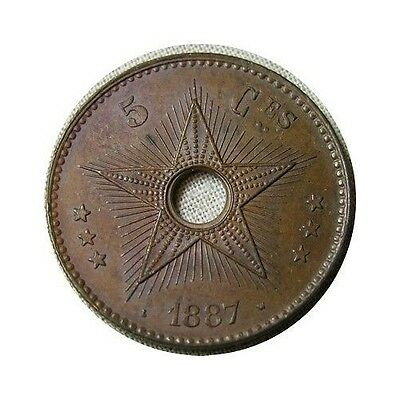 elf Congo Free State 5 Centimes 1887  Star