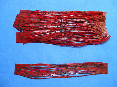 10 Silicone Skirt Tab Blood CH Red Lure Making Craft Bass Jig Spinner Bait Strip