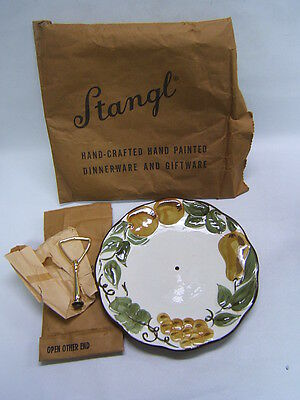 Stangl Sculptured Fruit Serving Plate Tray w/ Handle Original Packaging