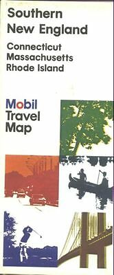 1976 Mobil Southern New England  Vintage Road Map