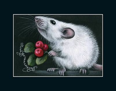 Rat ACEO Is It For Me? by I Garmashova