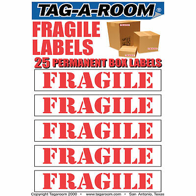 Fragile Moving Labels Identify box contents with 25 labels