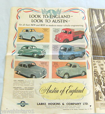 1953 Sunday Telegraph Qeii Coronation Supplement, Great Adverts.