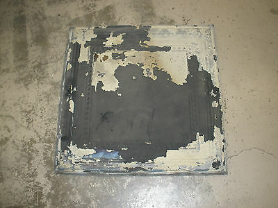 Antique Ceiling Tin-Tile #3-Vintage-Primitive--2x2 ft-Old Architectural