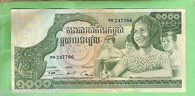 #d6. World Banknote - Cambodia  1000 Riels