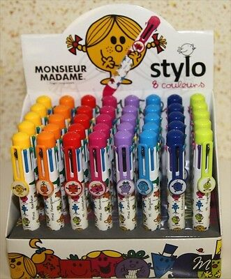 Lot 3 Stylos 8 couleurs MR MME Monsieur Madame Roger Hargreaves!Assorties