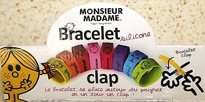 Bracelet Clap Monsieur Madame Mr MMe 8 Couleurs Cool et Fashion Pierre-cedric !