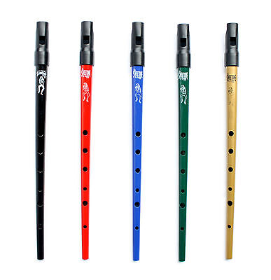Clarke Sweetone D Traditional Irish Tin Penny Whistle /& Soft Black Whistle Pouch Green