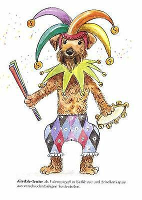 Airedale Terrier M - German Dog Print - MATTED / NEW