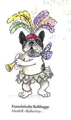 French Bulldog Dancer M - German Dog Print - MATTED / NEW