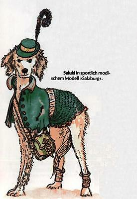 Saluki M - German Dog Print - MATTED / NEW
