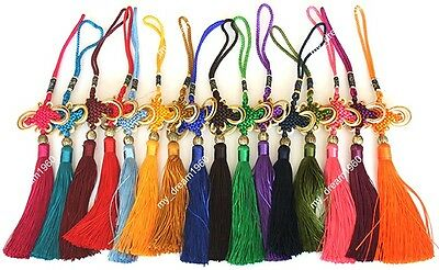 Spring Rainbow Color Chinese Feng Shui Knot Hanging Charm Tassels Good Luck Gigt