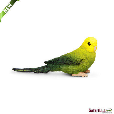 Green Budgie by Safari Ltd/New 2013/toy/bird/parakeet/150429