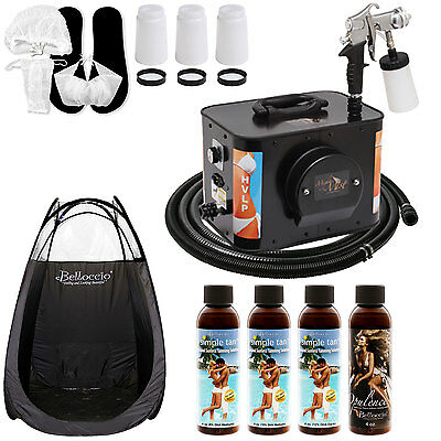Apollo MIGHTY MIST Sunless Airbrush SPRAY TANNING SYSTEM 4 Simple Solutions Tent