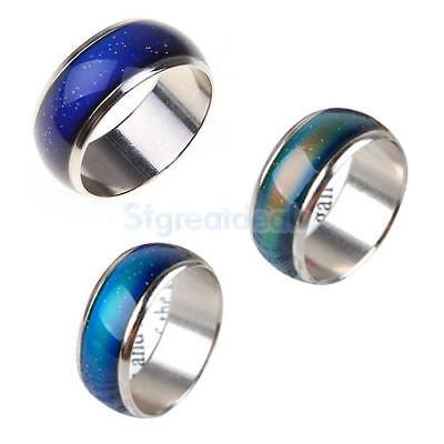 Set of 3 Emotion Feeling Mood Color Changeable Ring Size J 1/2 M 1/2 O 1/2