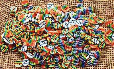 25/50/100 ASSORTED COLOUR STRIPED BUTTONS #12mm #CRAFTS/SCRAPBOOKING/SEWING