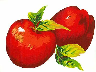 Red Delicious Apple Fruit Green Leaf Select-A-Size Waterslide Ceramic Decals Bx