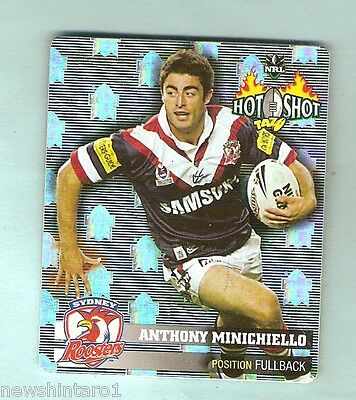2006  Inverted Nrl Rugby League Hot Shot Foil Tazo #19 Anthony Minichiello